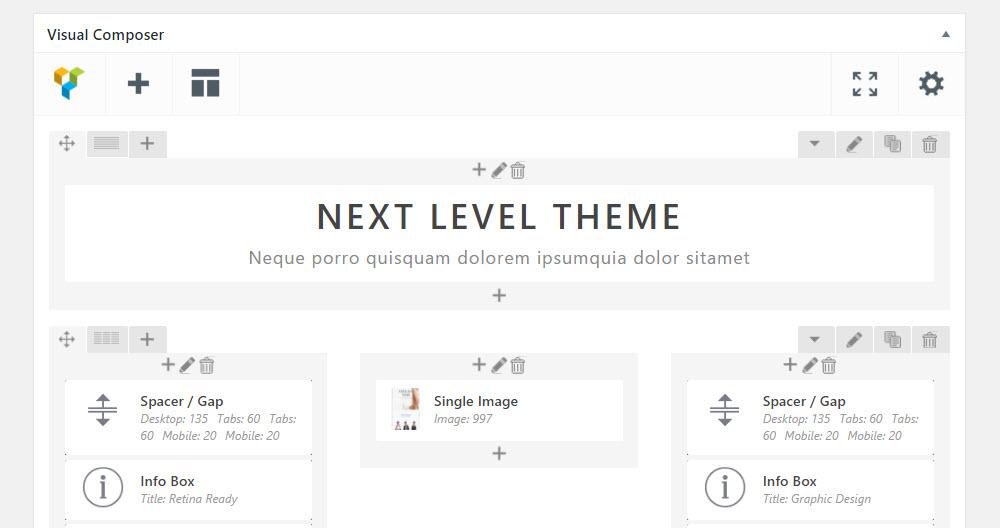 Kameleon Visual Composer User Interface