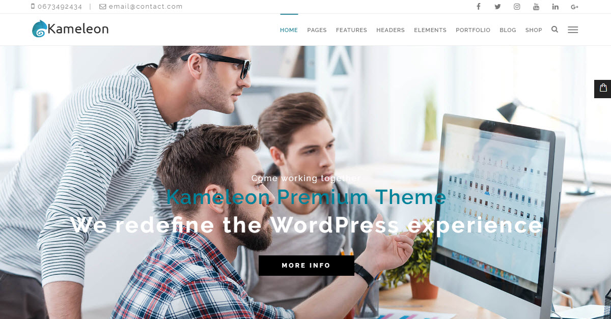 Kameleon Theme Review: A Creative Multi-Purpose WordPress Theme