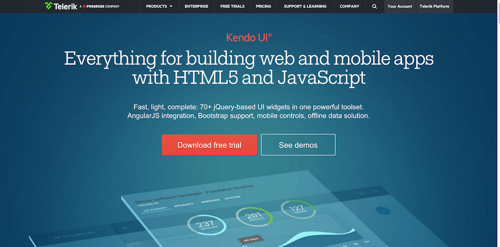Kendo UI jQuery and HTML5 widgets (1)