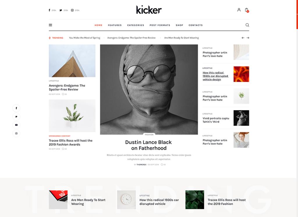 Kicker | Multipurpose Blog Magazine WordPress Theme + Gutenberg