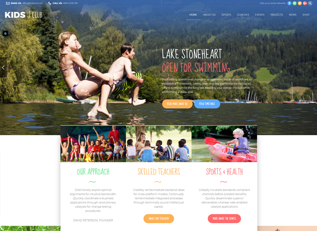 Outdoor Activities WordPress Themes for Fishing, Hunting, Camping