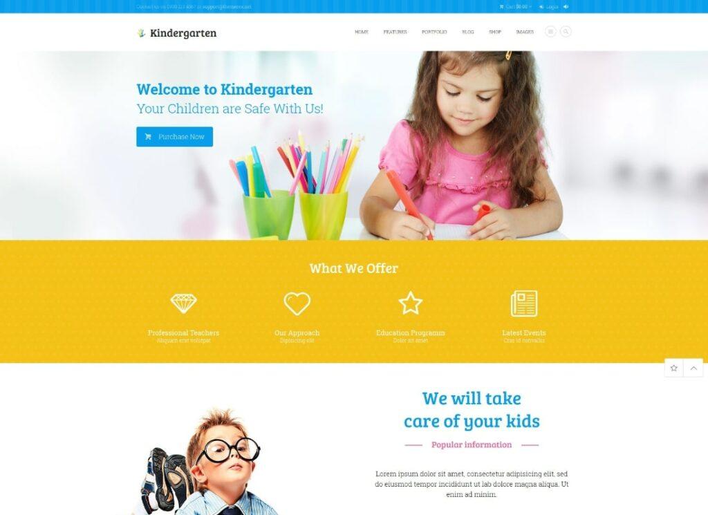 Kindergarten | Day Care & Children School Education WordPress Theme