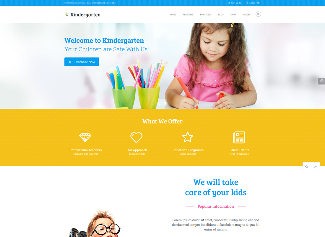 Kindergarten - Children WordPress Theme