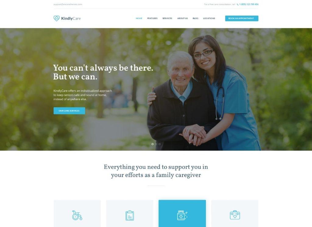 KindlyCare   Senior Care & Medical WordPress Theme