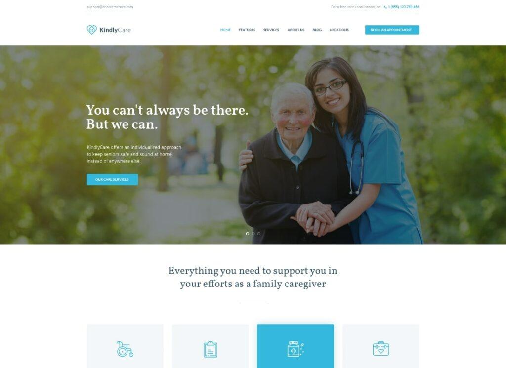 KindlyCare | Senior Care & Medical WordPress Theme