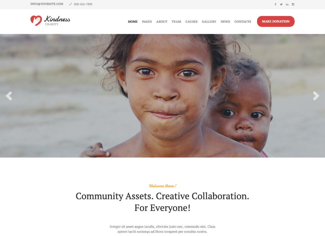 Kindness | Non-Profit, Charity & Donation Organizations WordPress Theme