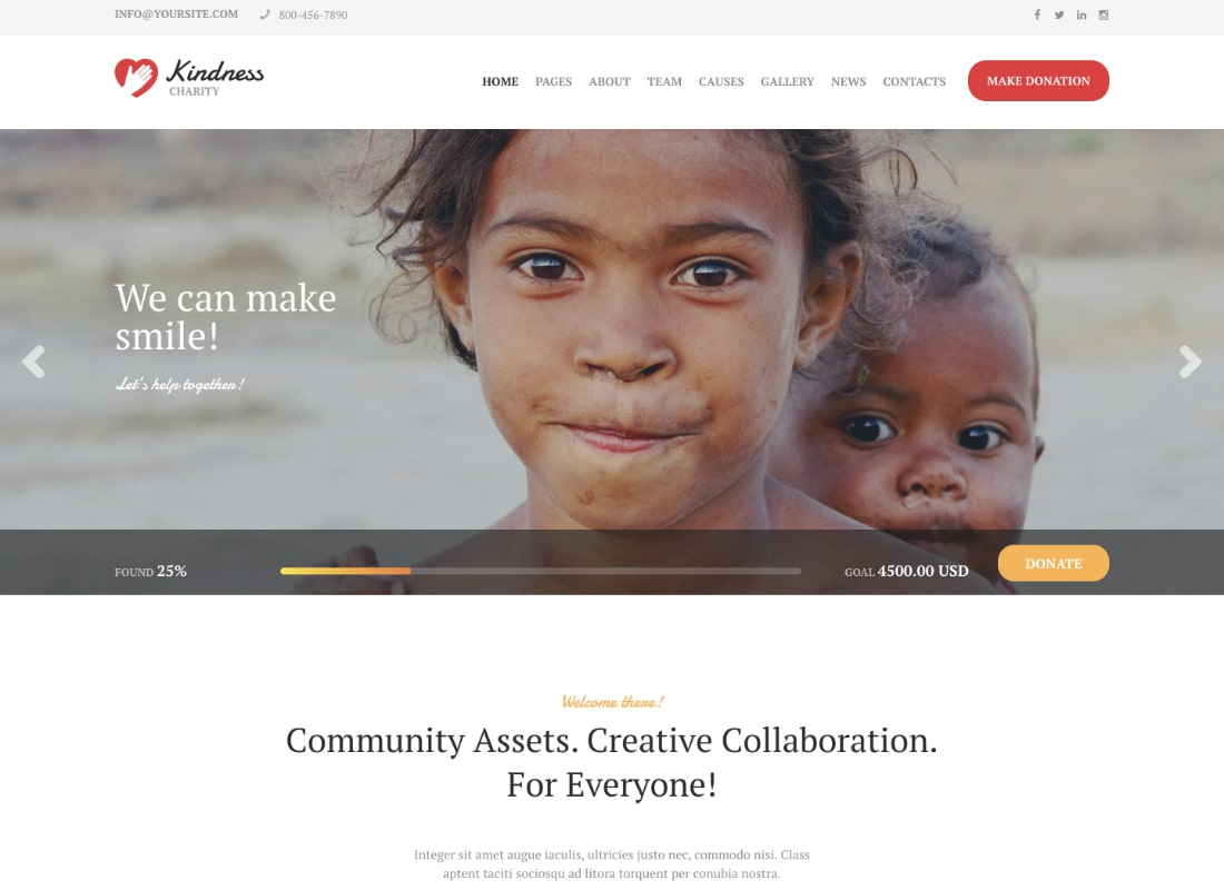 Kindness | Non-Profit, Charity & Donation Organizations WordPress Theme