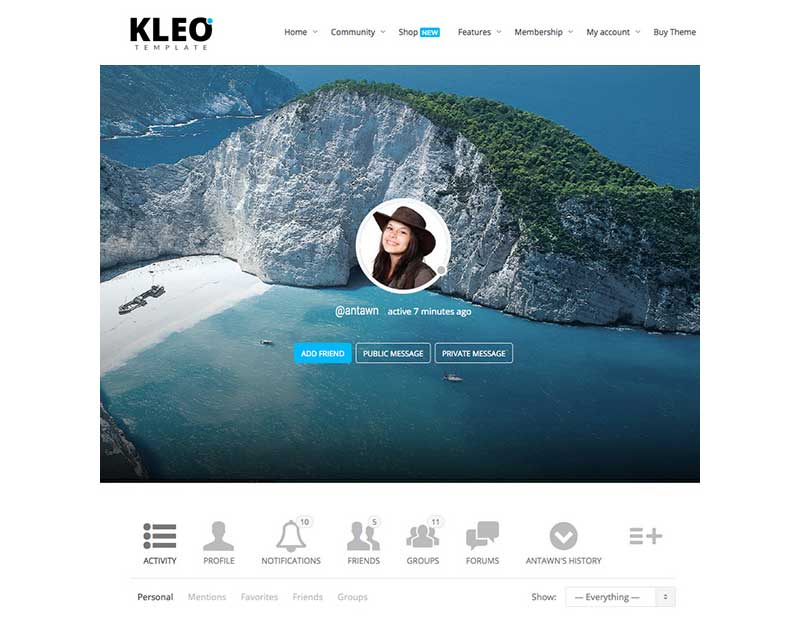 Kleo BuddyPress Profile