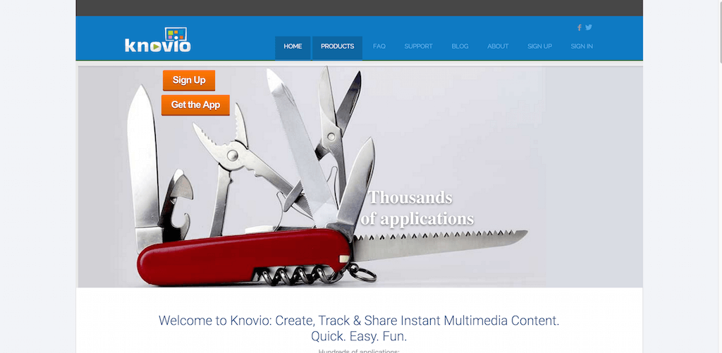 Knovio Online Video Presentations for Instant Multimedia