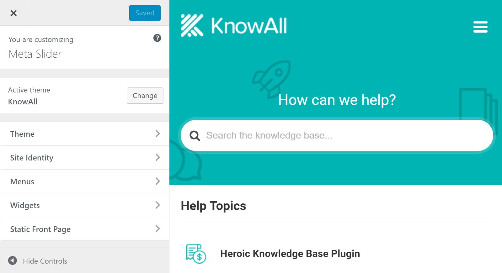 KnowAll Customizer