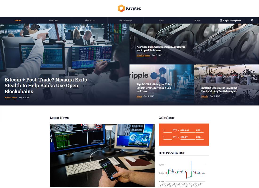Kryptex   Cryptocurrency & Mining WordPress Theme