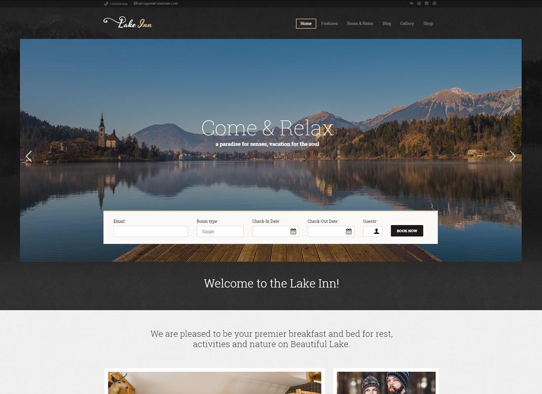 LakeInn - Inn, Resort & Hotel WordPress Theme