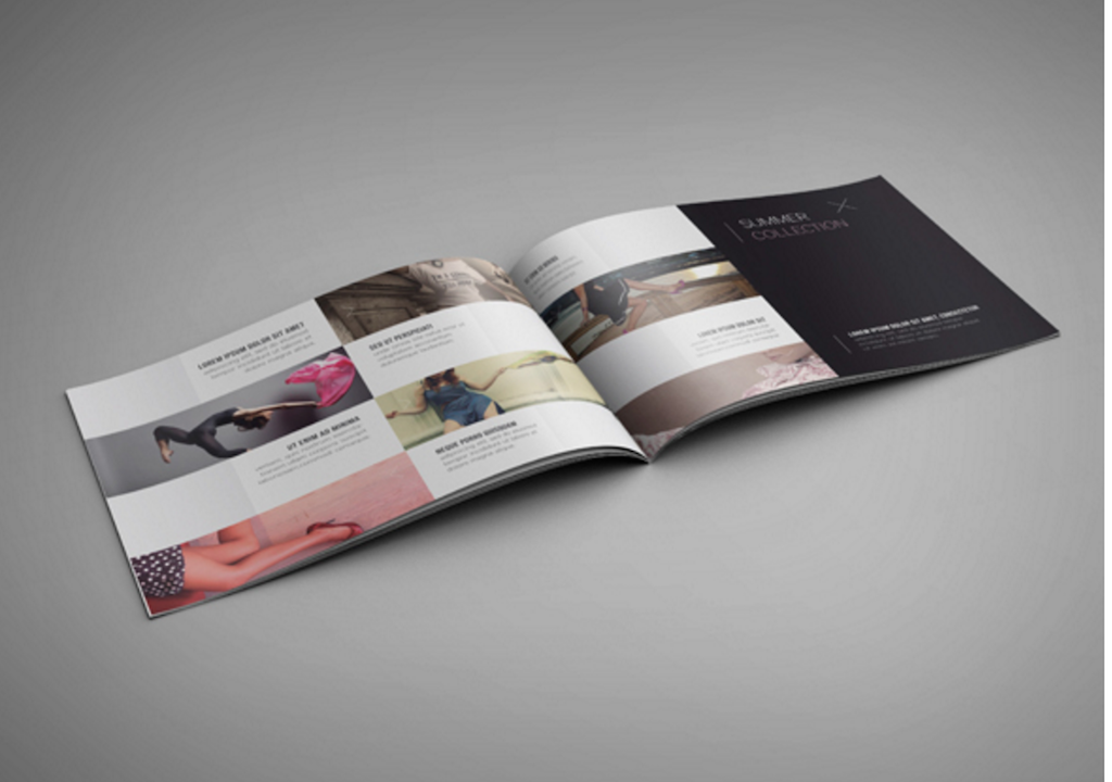 Maqueta de revistas:  Maqueta de folleto de paisaje