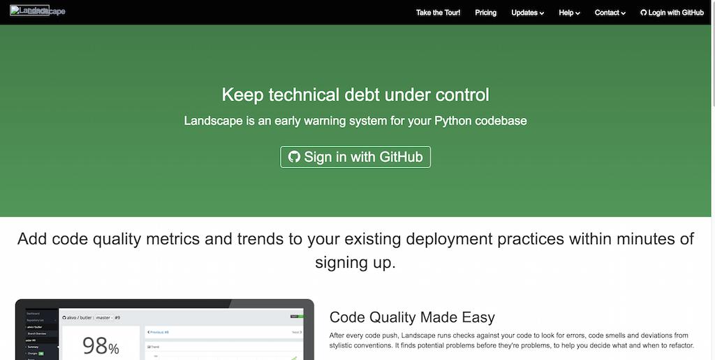 Landscape Hosted continuous Python code metrics