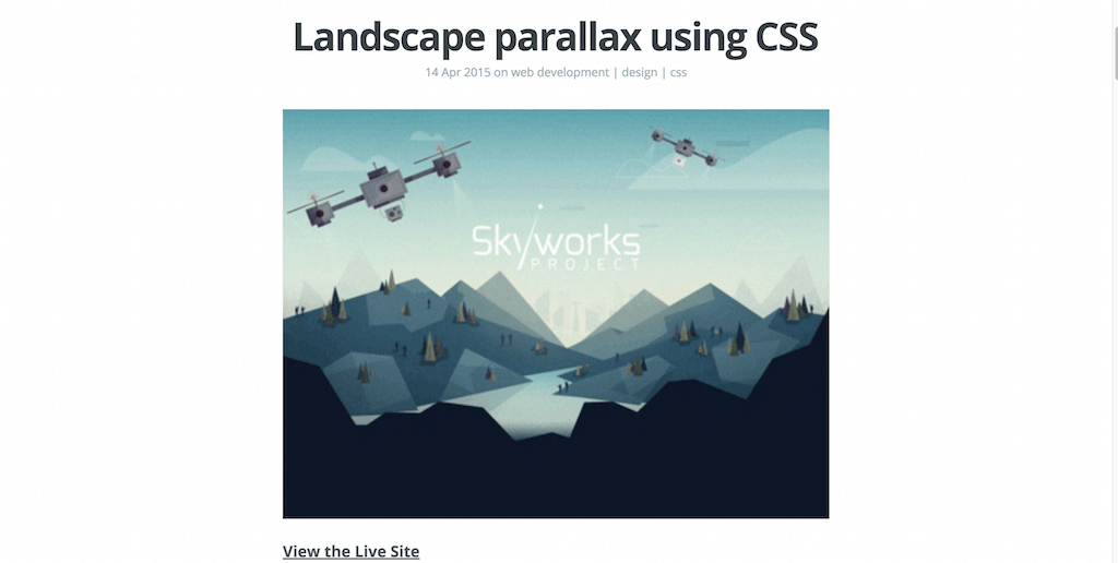 Landscape parallax using CSS