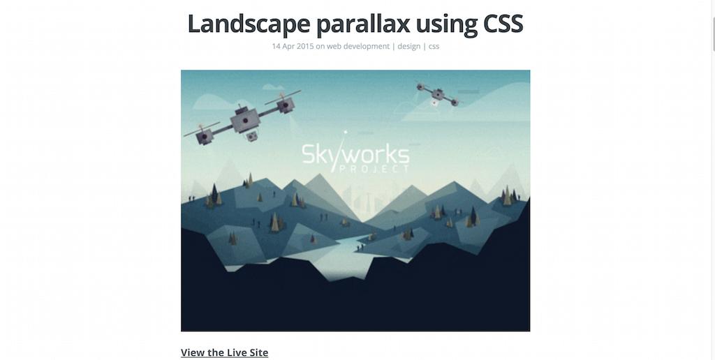 Landscape parallax using CSS