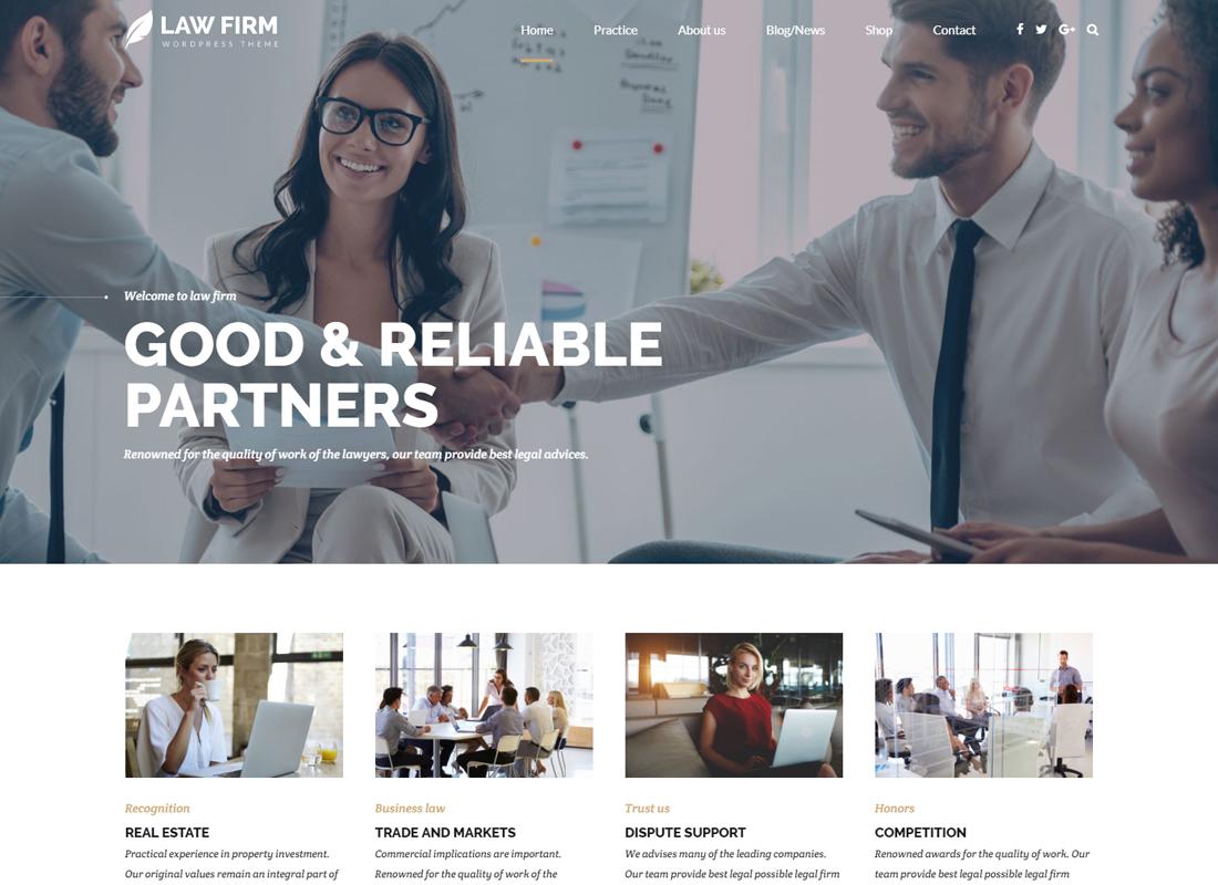 Law Firm | Law Office, Attorney, Lawyer WordPress Theme