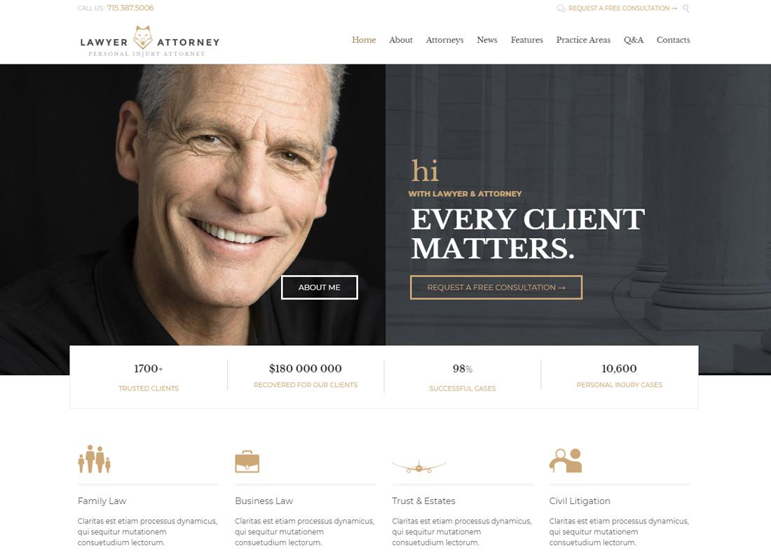 Lawyer & Attorney | Lawyers Attorneys and Law Firm WordPress Theme