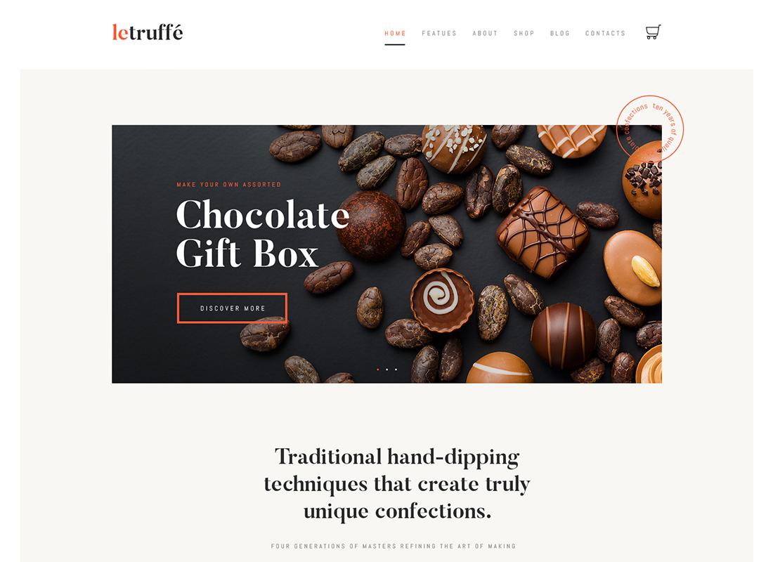 Le Truffe - Chocolate Boutique WordPress Theme