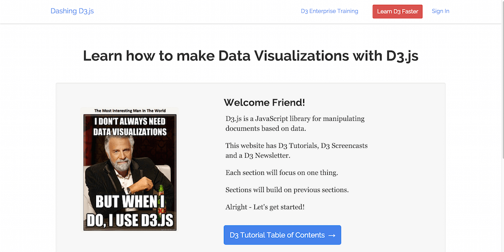 Learn how to make Data Visualizations with D3.js
