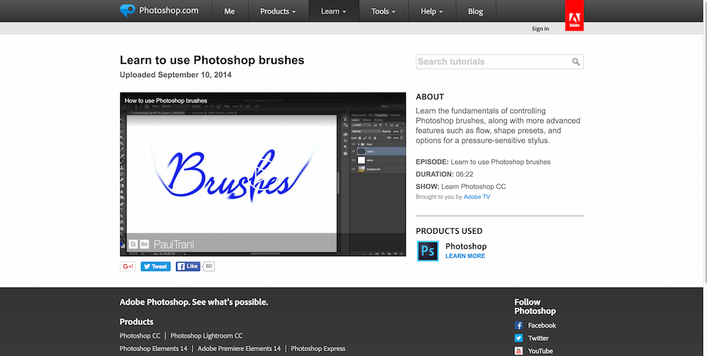 Learn to use Photoshop brushes