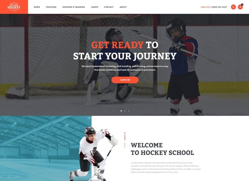 Let's Play | Hockey School & Sport WordPress Theme