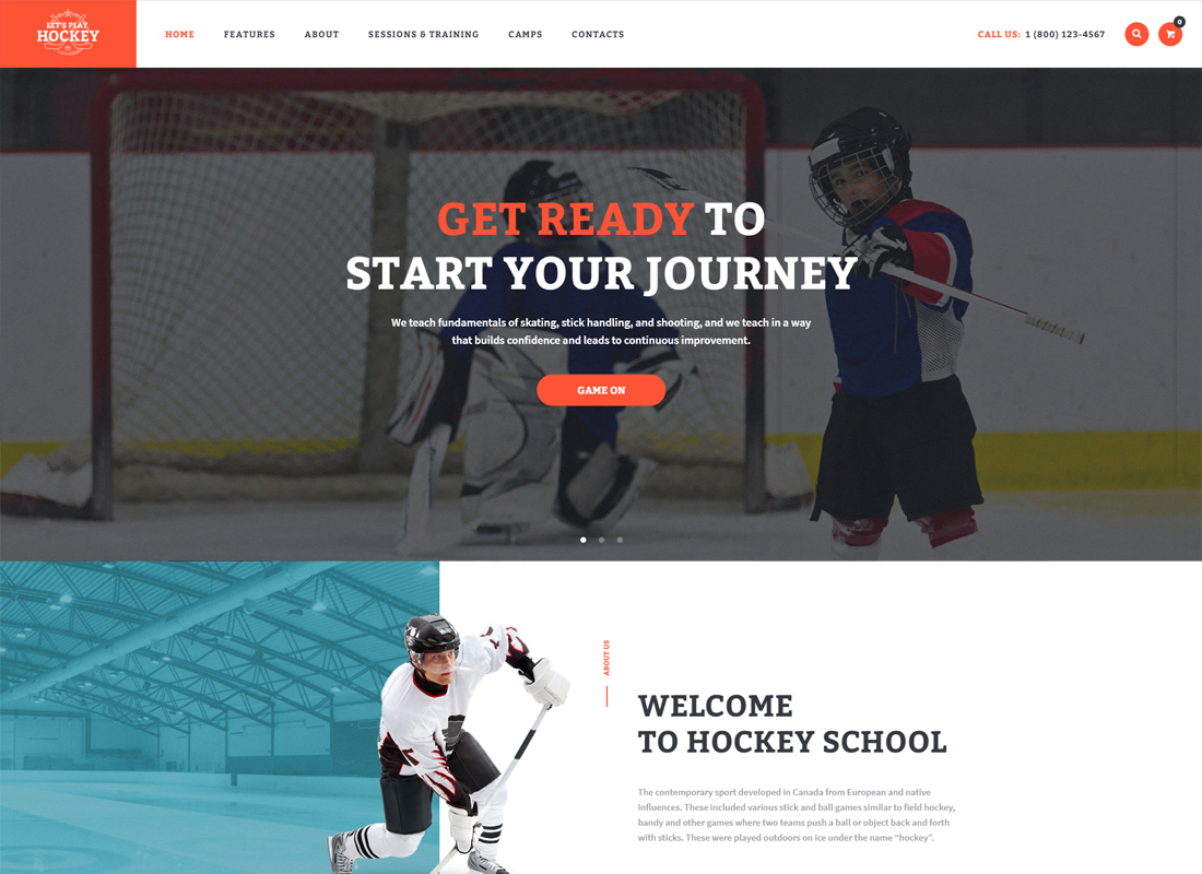 Let's Play - Hockey School & Sport WordPress Theme