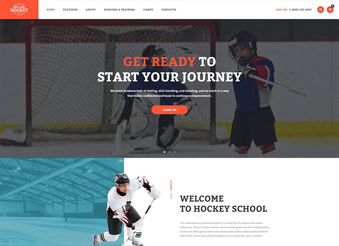 Let's Play - Hockey School & Sport WordPress Theme