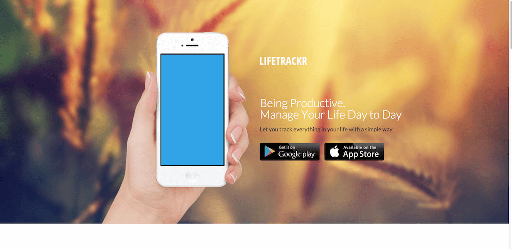 LifeTracker a template by Themefisher