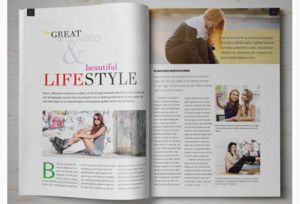 Maqueta de revistas: Revista Lifestyle