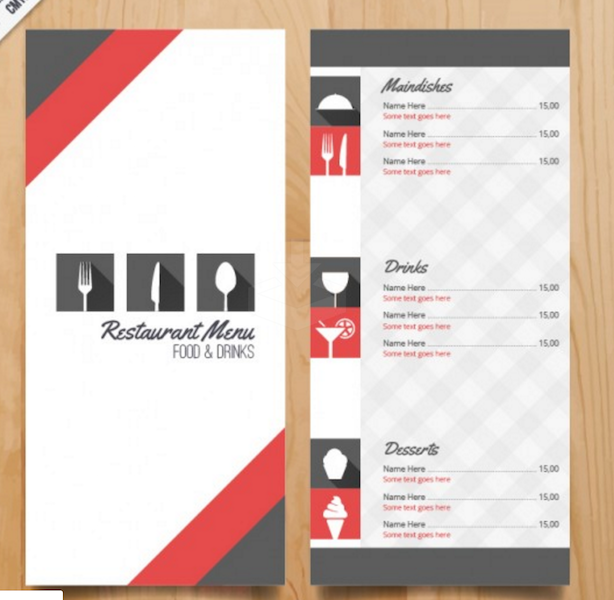 Lightweight Restaurant Menu Template Regarding Free Downloadable Restaurant Menu Templates