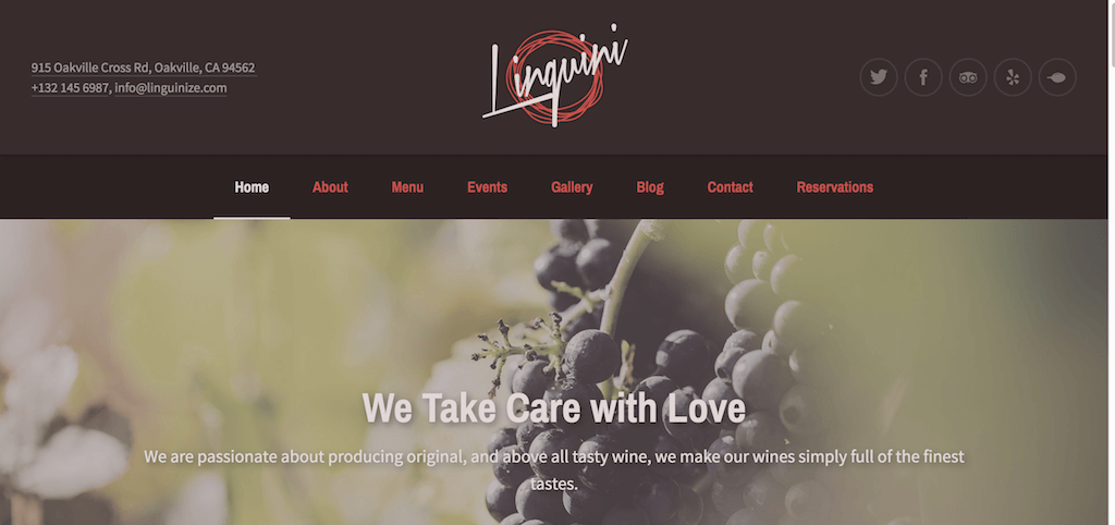 Linguini – Restaurant WordPress Theme