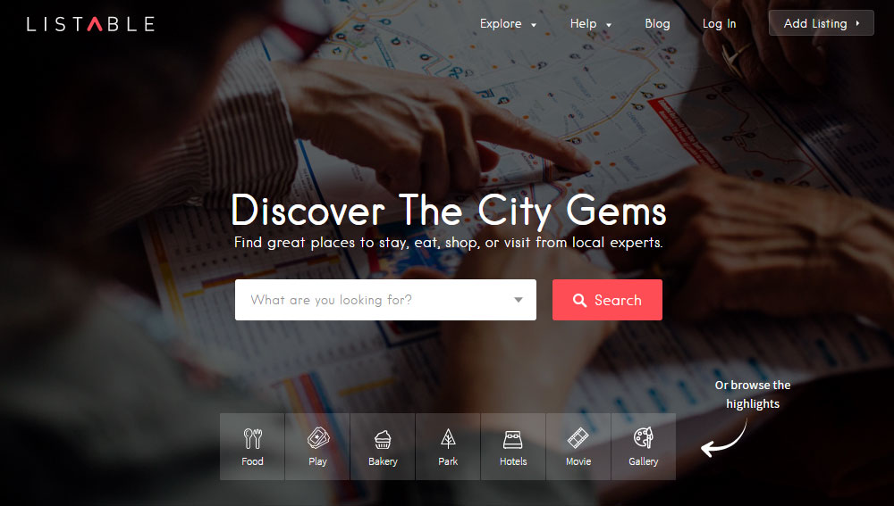 Listable Directory Theme Review Homepage