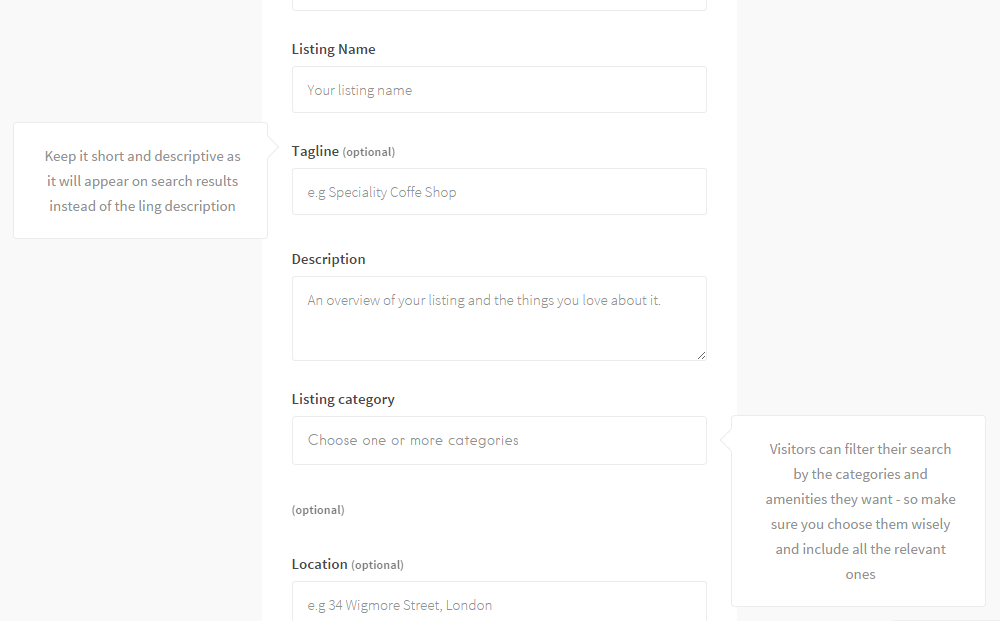 Listable Theme Front-End Submission
