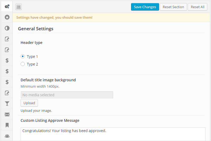 ListingBuilder Control Panel
