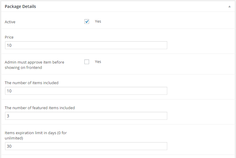 ListingBuilder Package Pricing