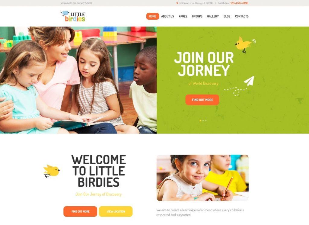 Little Birdies | A Multipurpose Children Kindergarten WordPress Theme