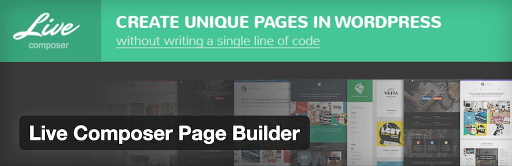 Live Composer Page Builder — WordPress Plugins