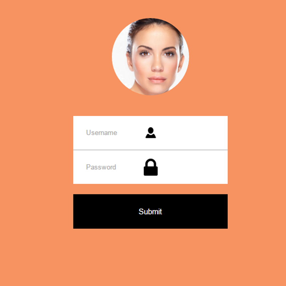 CSS3 HTML5 Login With Logo