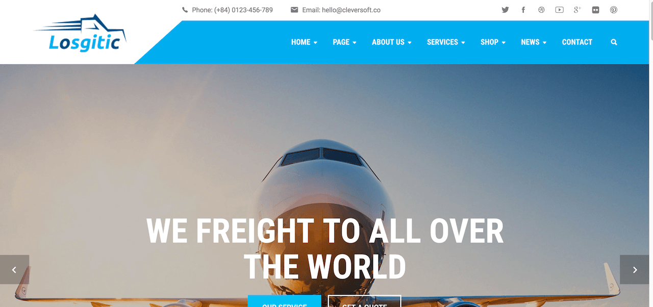 Logistic - Warehouse & Transport WP theme