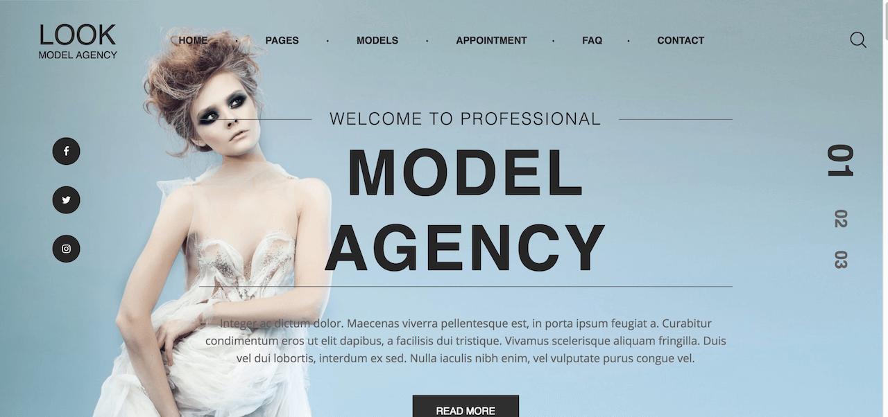 15+ Best Model Agency WordPress Themes 2017 - Colorlib