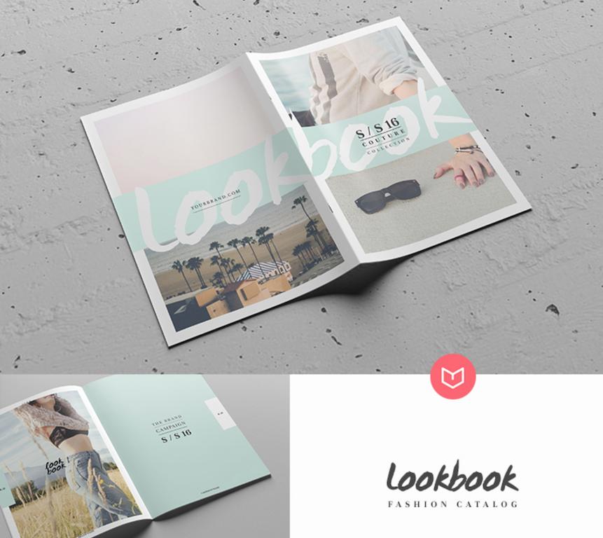 Maqueta de revistas: : Plantilla de catálogo de Lookbook