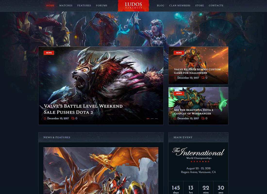 Ludos Paradise - Gaming Blog & Clan WordPress Theme