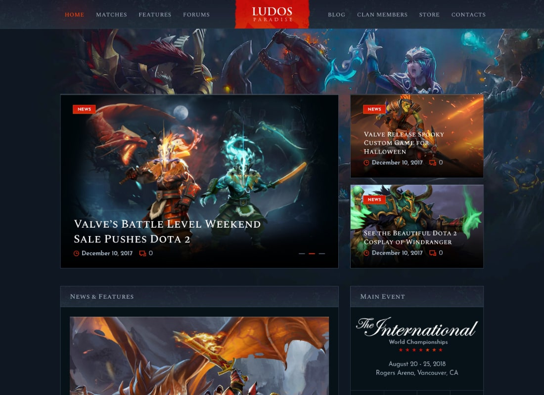 Ludos Paradise | Gaming Blog & Clan WordPress Theme