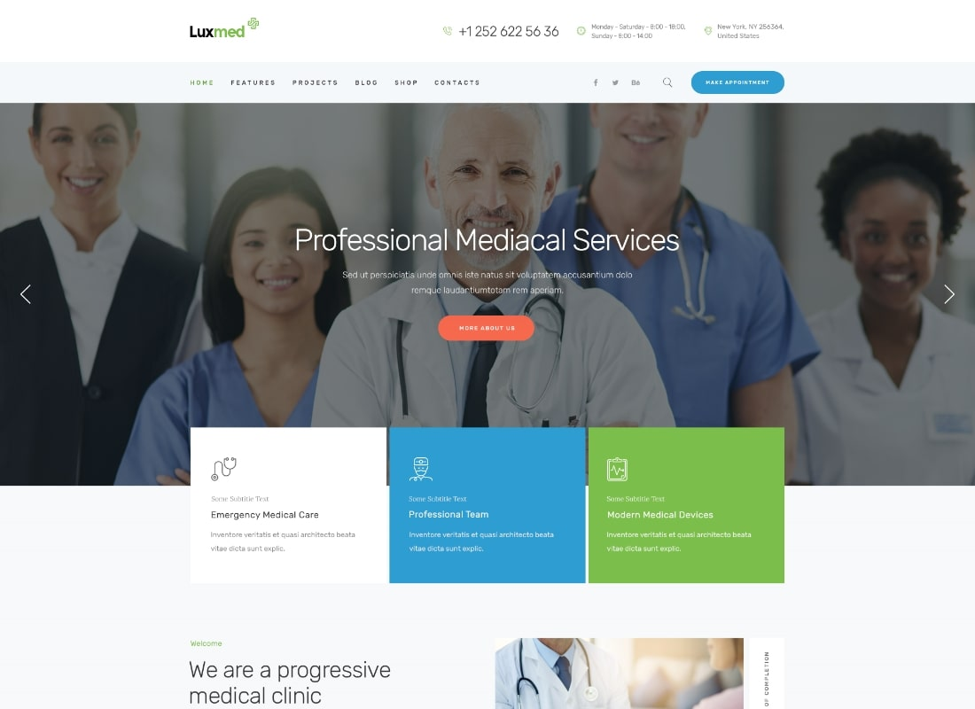 LuxMed | Medicine & Healthcare WordPress Theme