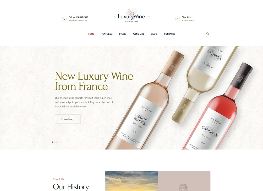 Luxury Wine | Wine House, Winery & Wine Shop Luxury WordPress Theme