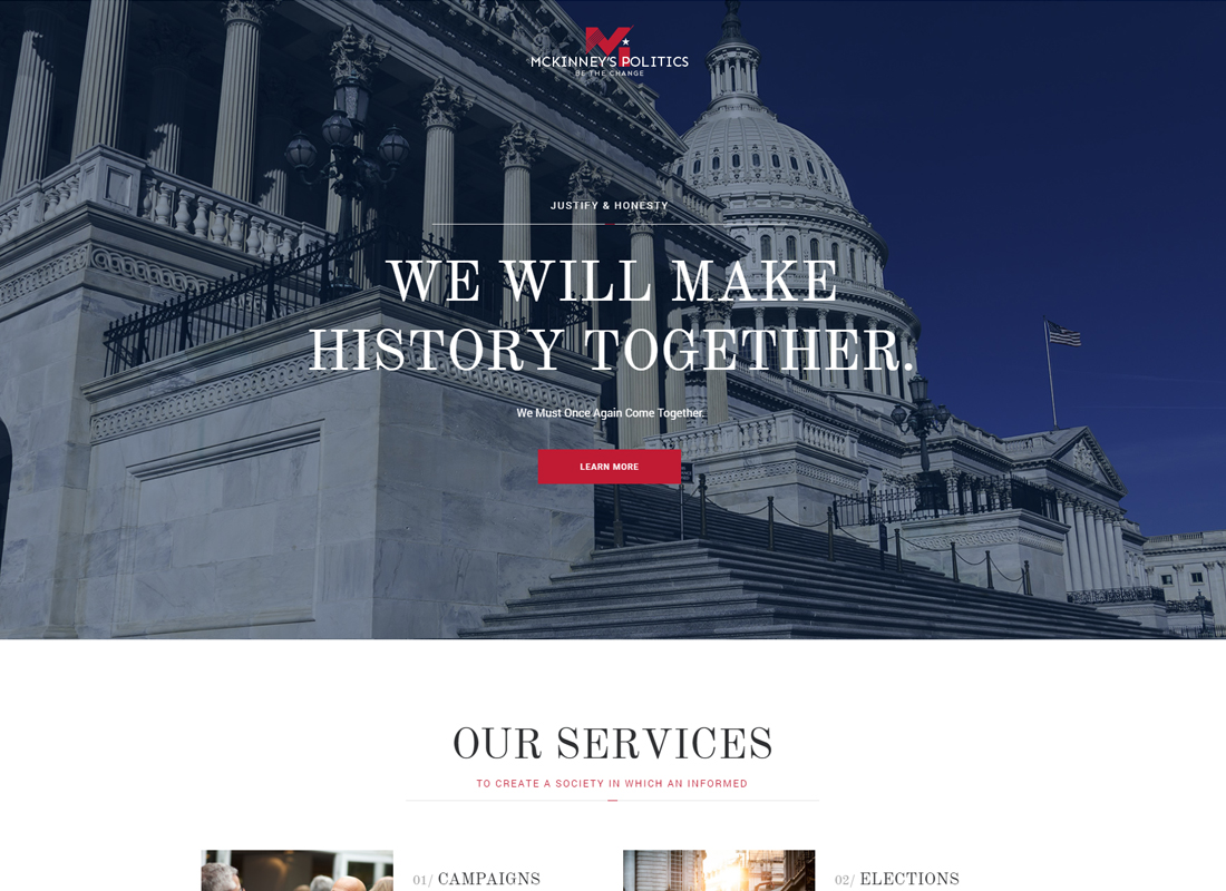 MCKinney's Politics | Elections Campaign & Political WordPress Theme