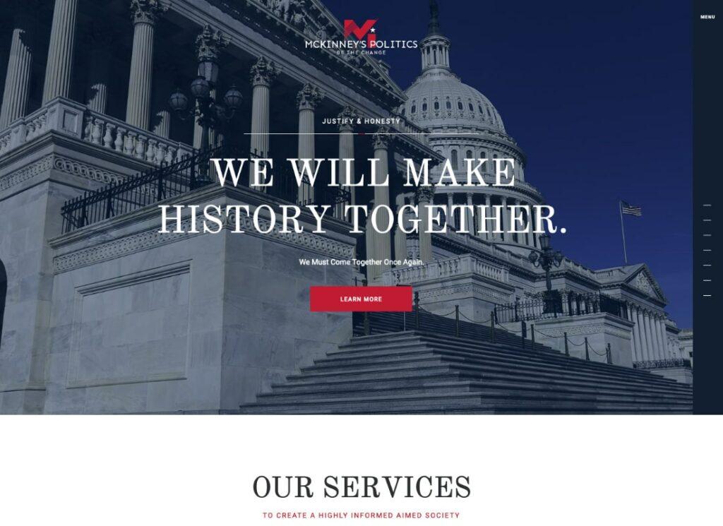 MCKinney's Politics | Elections Campaign & Social Activism WordPress Theme