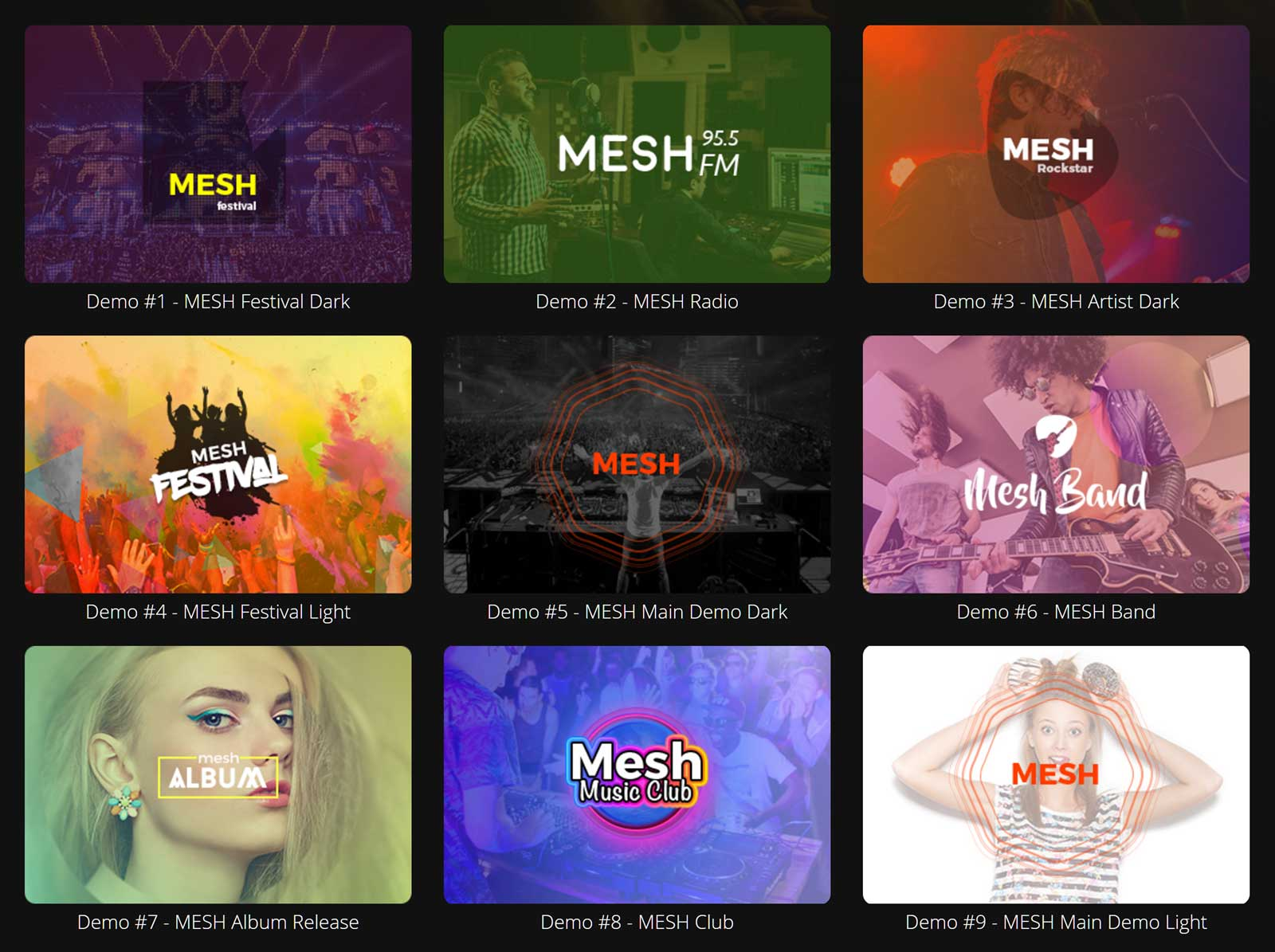 MESH Theme Review Demos