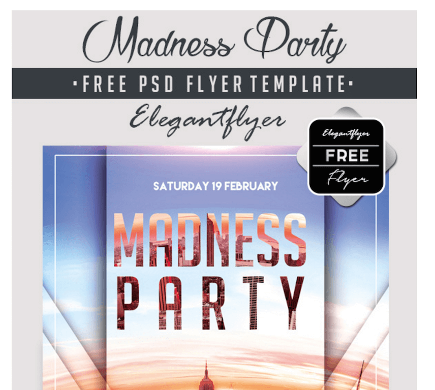 Madness Party Flyer